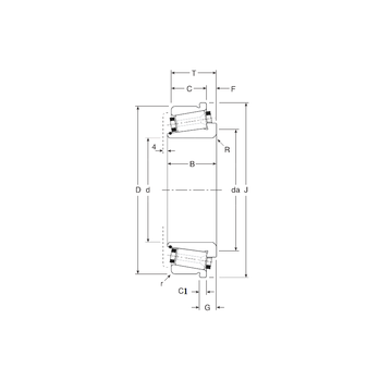 160098X/160161XC Gamet Tapered Roller Bearings